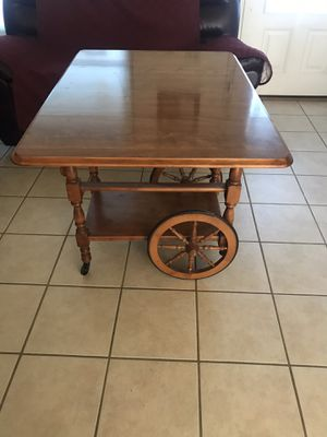 Beautiful expandable cart/table, wheels, drawer, awesome for a table bar or for breakfast on bed !!! for Sale in Tampa, FL