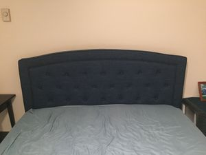 Blue queen bed frame and/or queen mattress and box spring for Sale in San Diego, CA