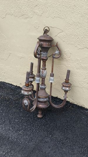 Candelabra wrought iron chandelier for Sale in Vienna, VA