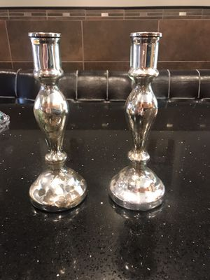 antique silver glass candlesticks for Sale in Queens, NY