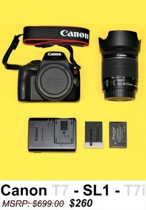 *MINT* Canon SL1 DSLR EOS Rebel Vlogging Camera Canon Lens for Sale in Miami, FL