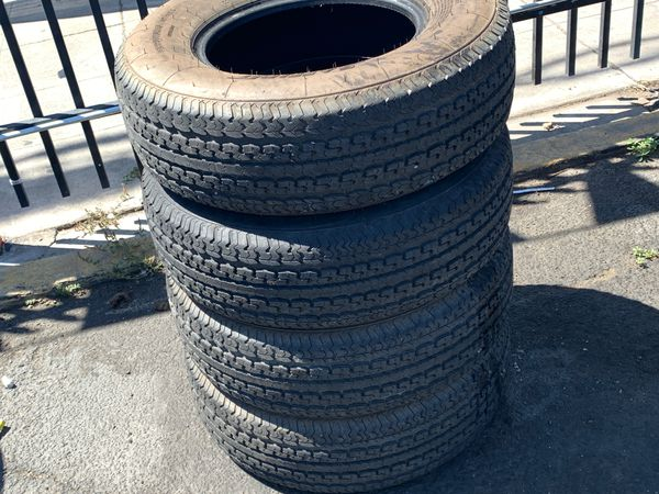 (4) 225-75-15 TRAILER TIRES FOOD CONDITION