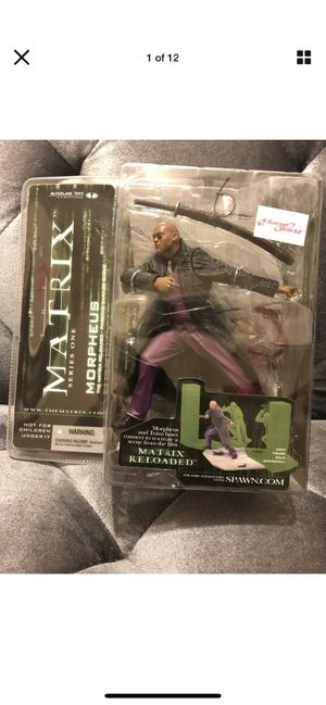 "MORPHEUS MCFARLANE MATRIX SERIES 1 RELOADED ACTION FIGURE 6"" 2003 New for Sale in Fresno, CA"