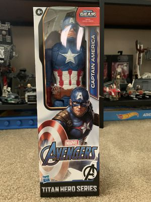 MARVEL AVENGERS: Titan Hero Series Blast Gear Captain America Figure for Sale in San Gabriel, CA