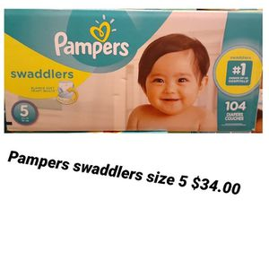 Pampers Swaddlers Size 5 for Sale in Los Angeles, CA