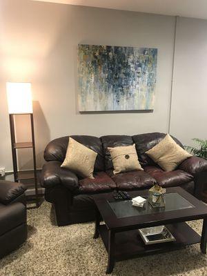 FREE-Brown Leather Couch for Sale in Cleveland, OH