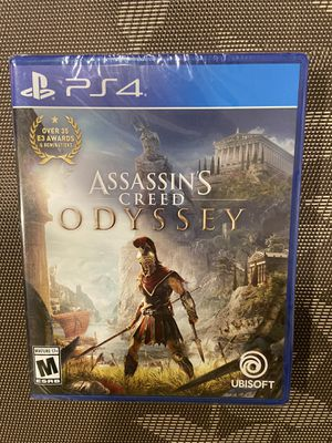 Assassin's creed odyssey playstation ps 4 brand new for Sale in San Bruno, CA