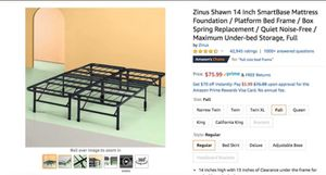 Bed frame and mattress, table and 4 chairs, futon for Sale in New York, NY