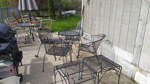 7 piece black patio furniture for Sale in Fox Lake, IL