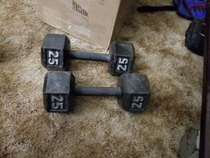2 25lb barbells for Sale in Rodeo, CA