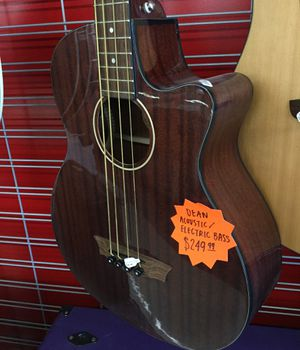 Dean Acoustic/Electric Bass Guitar for Sale in Oklahoma City, OK