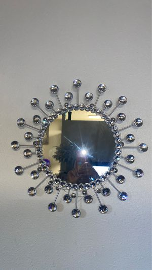 Silver wall mirror for Sale in Long Beach, CA
