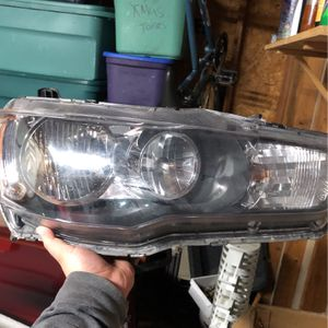 Stock Lancer/Evo X Headlights With Aftermarket High/low Beams for Sale in Maple Valley, WA