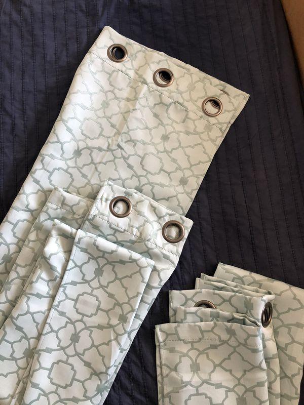 Light Blue + Teal Panel Drapes
