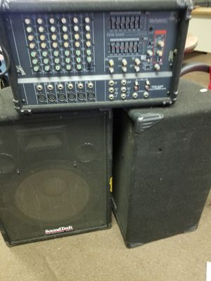 Speakers and amp , for dj ,pa system , band for Sale in Compton, CA