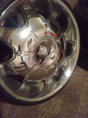 """24in rims for sale $500.00 """"All Center Cap"""" tires got great thread for Sale in Wingate, NC"""