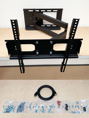 """(NEW) $28 HDMI and Full Motion TV Wall Mount Combo 23""""-50"""" Swivel Tilt for Sale in Whittier, CA"""