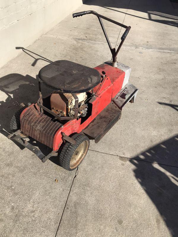 Barn find 1967 Sears & Roebuck n Co USA Simpson Sears Ride-along mower go kart