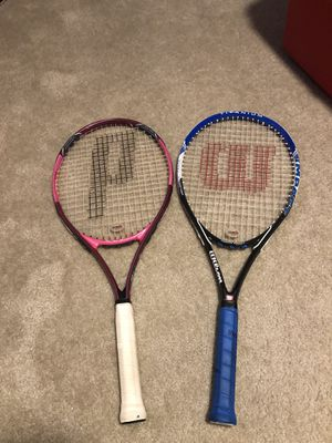 Tennis Rackets (1 Wilson, 1 Prince) for Sale in Laurel, MD