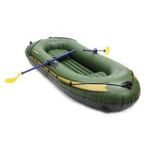 3 Person Inflatable Rowing Boat Bearing 200kg Durable PVC Rubber Fishing Boat Set with Paddles Pump Set for Sale in LUTHVLE TIMON, MD