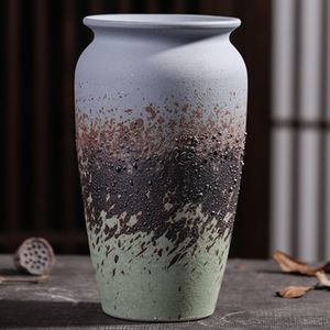 Gradient Colorblock Vessel Modern Flower Vase Ceramics Pot Mcm Mid Century Style Handmade for Sale in Newport Beach, CA