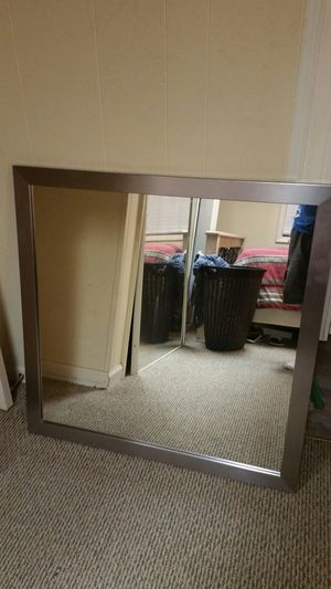 36 by 36 mirror with wood frame for Sale in Raleigh, NC