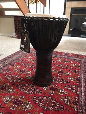 """J Toca TF2DJ-12SC Freestyle II Djembe, Diametre 12"""", colour: cooper, rope tuned, lightweight and durable seamless synthetic shell and skin, ideal for for Sale in Alexandria, VA"""