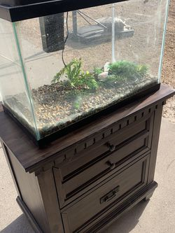 20 Gallon Glass Aquarium w/Wood Stand for Sale in Peoria,  AZ