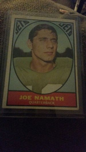 Excellent condition 1968 Namath card for Sale in Highfield-Cascade, MD