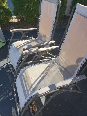 Lawn Chairs 0 Gravity Brown for Sale in Cranston, RI