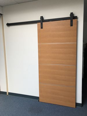 Sliding door with sliding track and hangers for Sale in Redondo Beach, CA