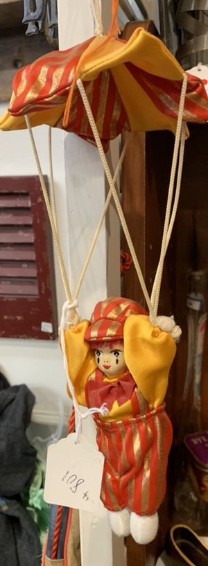 CUTE HANGING CLOWN withCeramic face for Sale in Cottonwood Heights, UT