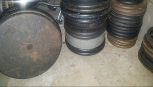 Barbell weights Standard 1in for Sale in Orland Park, IL