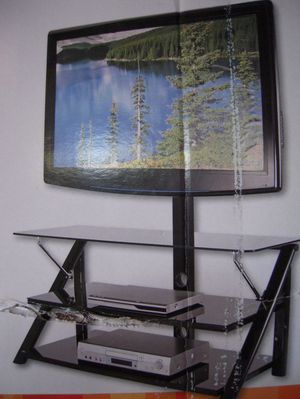 NEW Swivel Mount Glass TV Stand for Sale in Chesterfield, VA