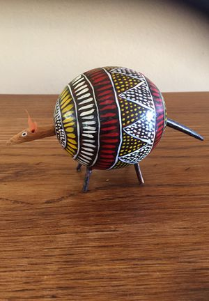 Hand painted carved anteater gourd for Sale in Des Moines, WA