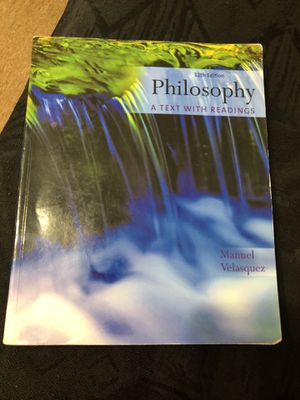 Philosophy 11th edition by Manuel Velasquez for Sale in Chicago, IL
