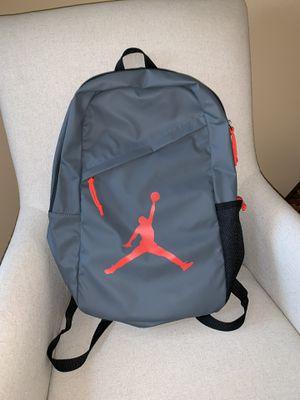 Nike Air Jordan Jumpman Crossover Backpack Book School Gym Bag Bred Gray/Orange for Sale in Lynwood, CA