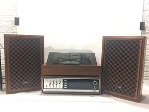 Vintage Early 70s Panasonic Stereo System Receiver Turntable Record Player Speakers for Sale in Camanche, IA