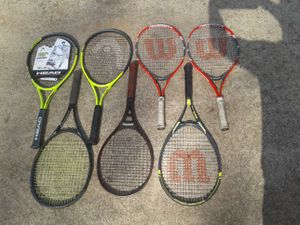 7 TENNIS RACKETS/1 IS BRAND NEW NEVER USED for Sale in Villa Rica, GA