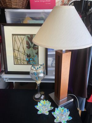 Lamp $12- Wall Art $10 - Candleholders $20 for Sale in Aurora, CO