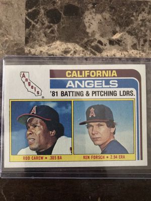 Rod Carew 1982 Topps Angels Leaders for Sale in Chelmsford, MA