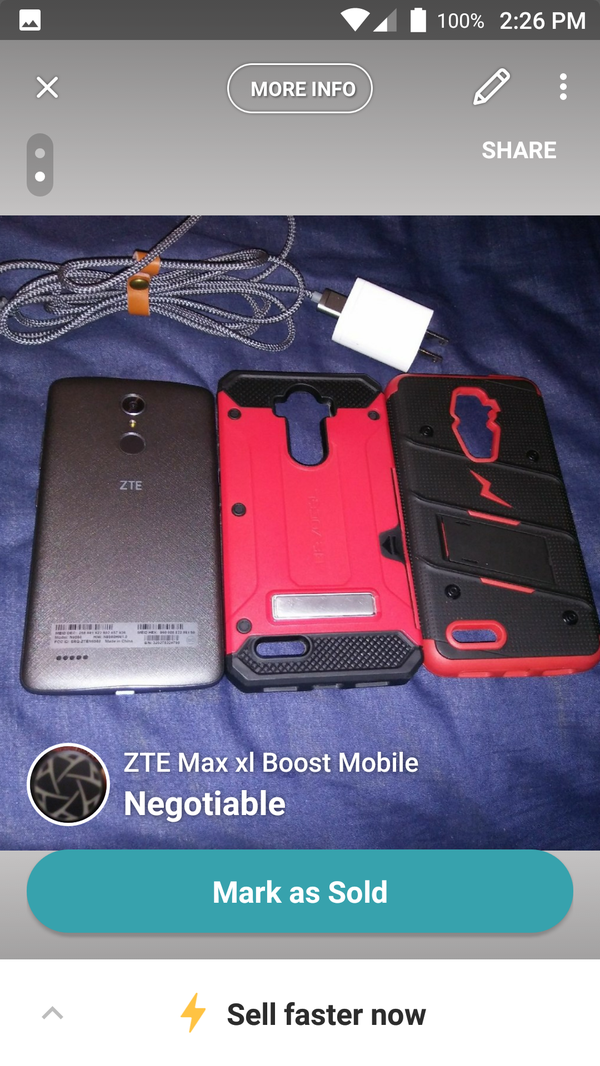 ZTE Max XL boost Mobile carrier 6