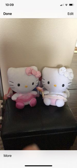 2 hello kitty stuffed characters like new excellent condition for Sale in Poway, CA