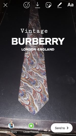 Burberry tie for Sale in El Centro, CA