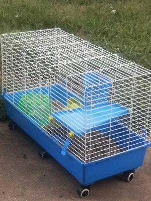 Bi level Guinea pig/ rabbit cage equipped with feeding bowl and covered house for Sale in Sauget, IL