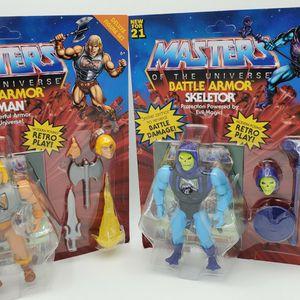 Masters of The Universe Battle ARMOR HE-MAN, SKELETOR for Sale in Las Vegas, NV