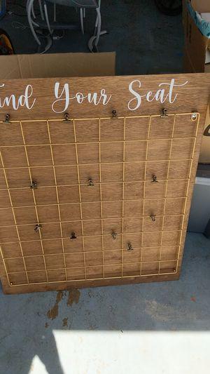 Wedding seat sign for Sale in La Mesa, CA