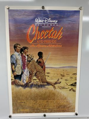 """Movie Poster """"Cheetah & Friends"""" from the 1989 movie - single-sided - 27x41"""" for Sale in Chandler, AZ"""