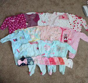 Baby Girl Sleeper Bundle 0-3 months for Sale in Chandler, AZ