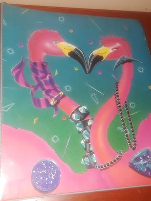 1989 Mead Kissing Rockstar Pink Flamingos Binder for Sale in Decatur, GA